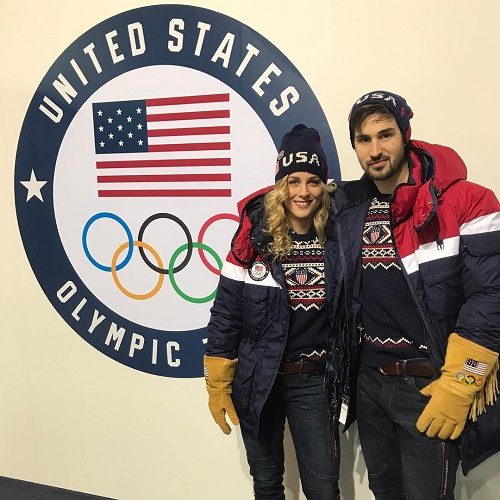 Madi and Zach checking in at the Olympics