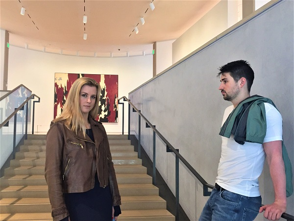 Madi and Zach at the Anderson Collection at Stanford University